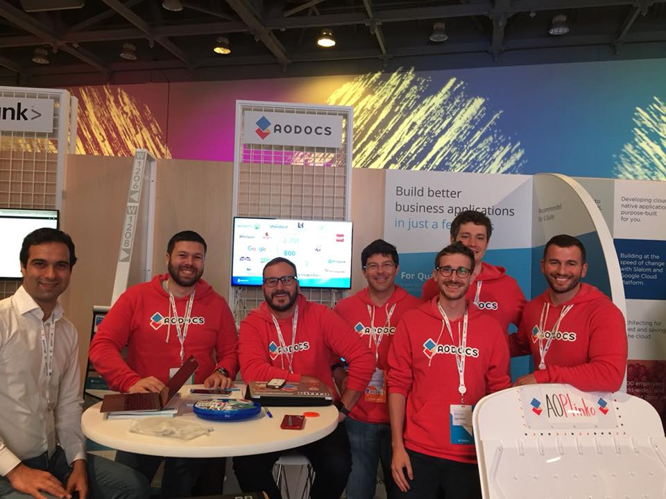 AODocs Team at Google Cloud Next 2018