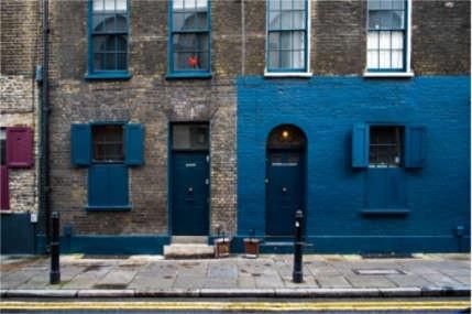 Blue Brick Building