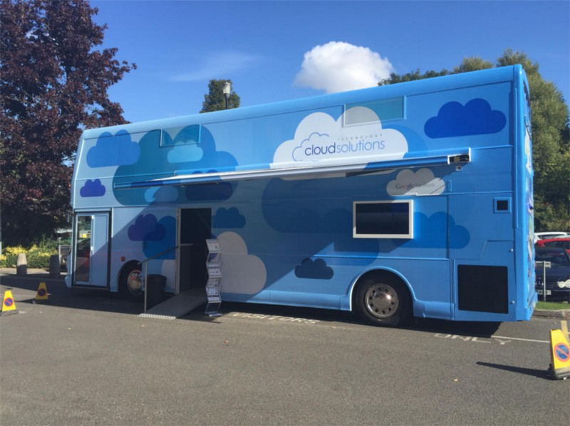 Cloud Solutions' Double Decker Tour Bus