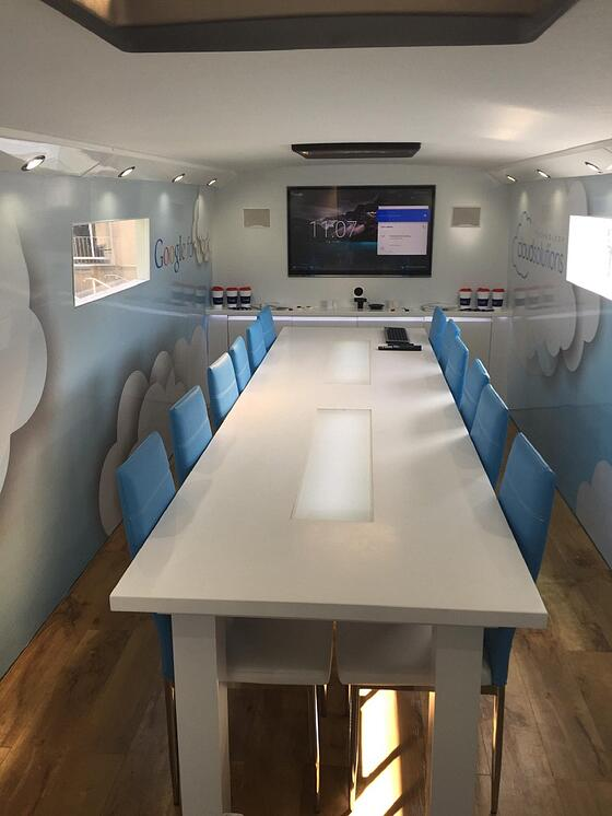 Conference Room Inside Tour Bus
