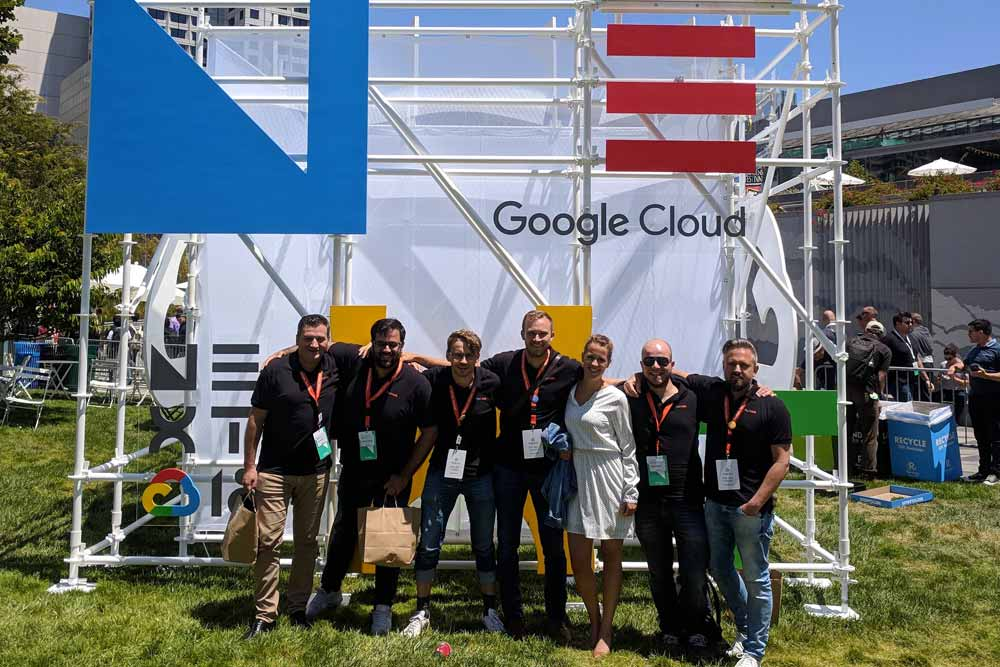 Julie Dockx and Fourcast Team at Google Cloud Next