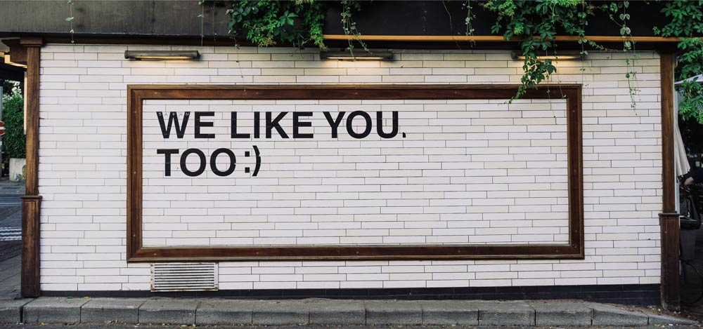 We Like You Too Wall Art