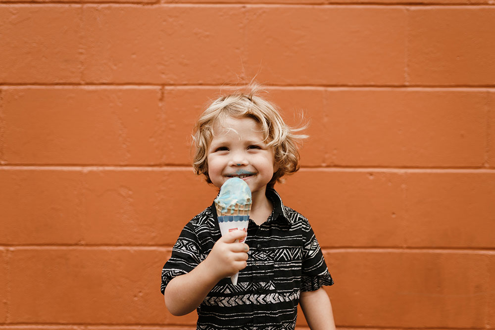 A Child Eating an Ice Cream Cone