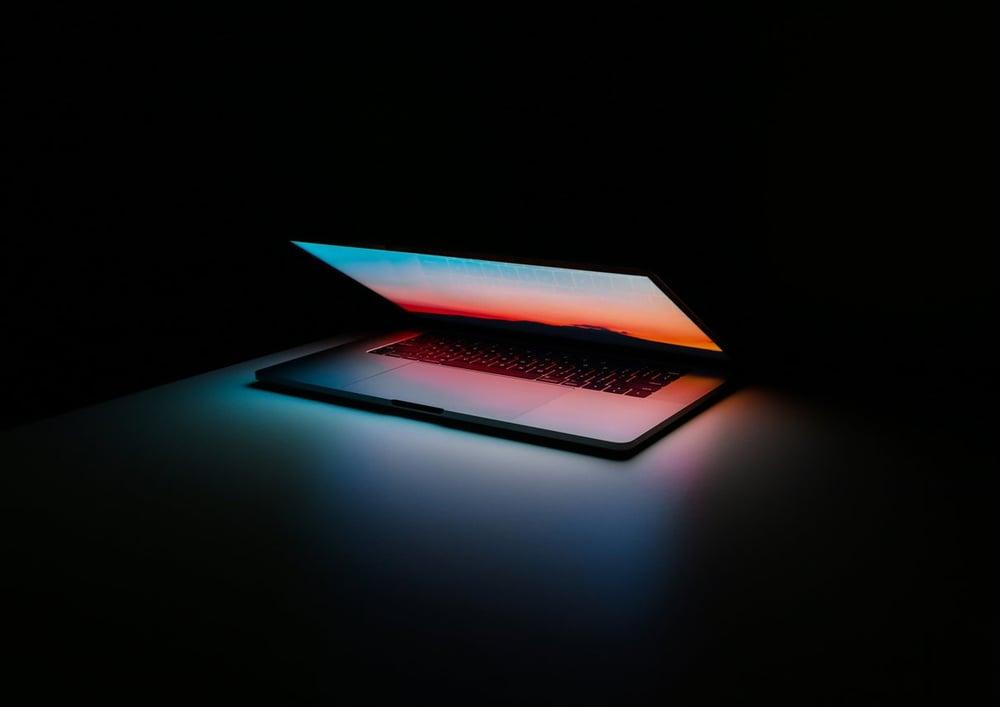 Laptop in Darkness