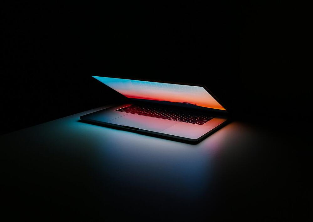 Laptop in Darkness