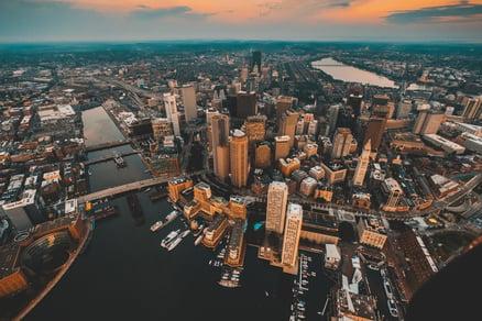Arial photo of Boston